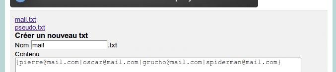 Oscaar - Pas à pas - les fichiers txt