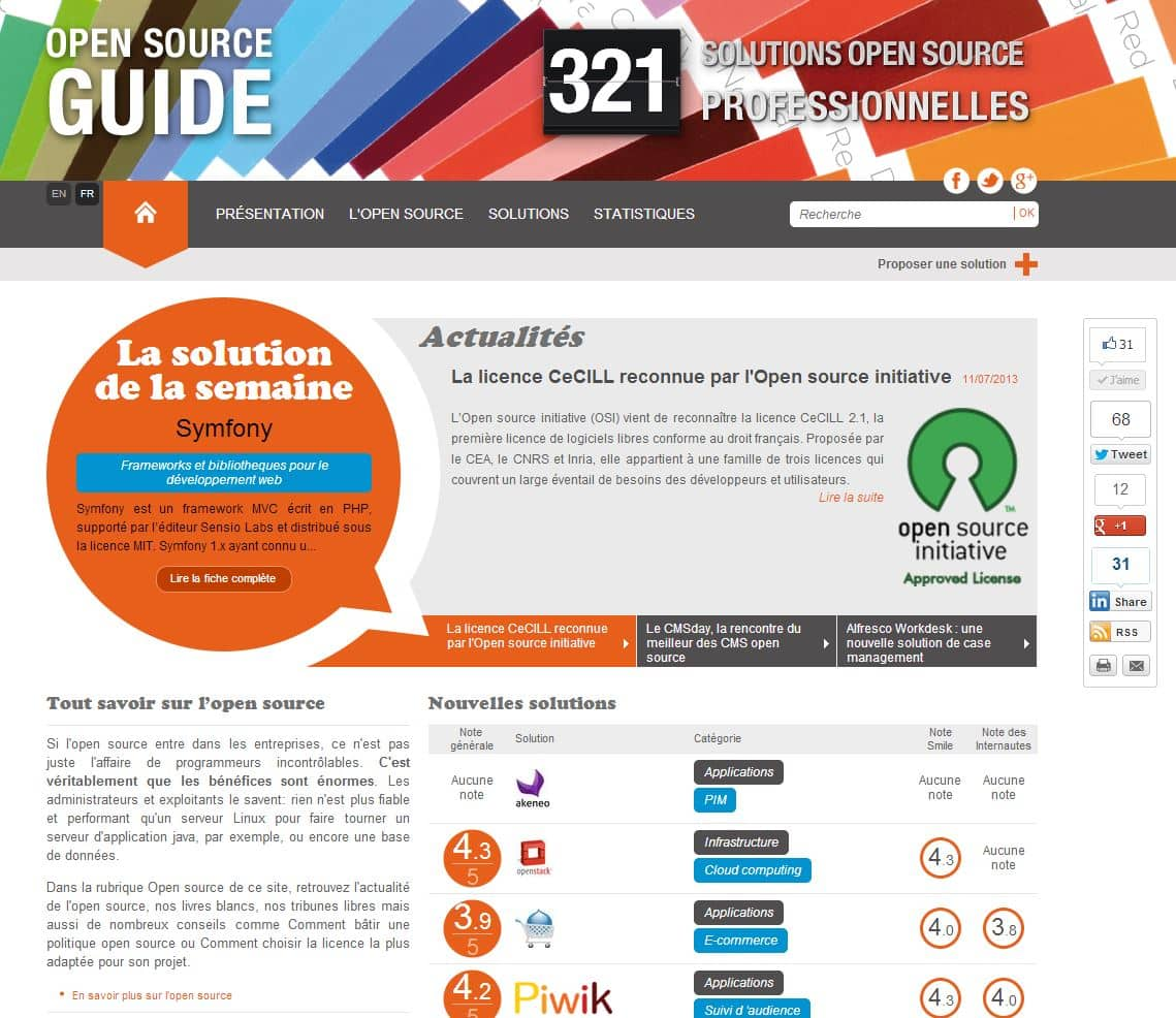 Le guide de l'Open Source sur le web [Smile]