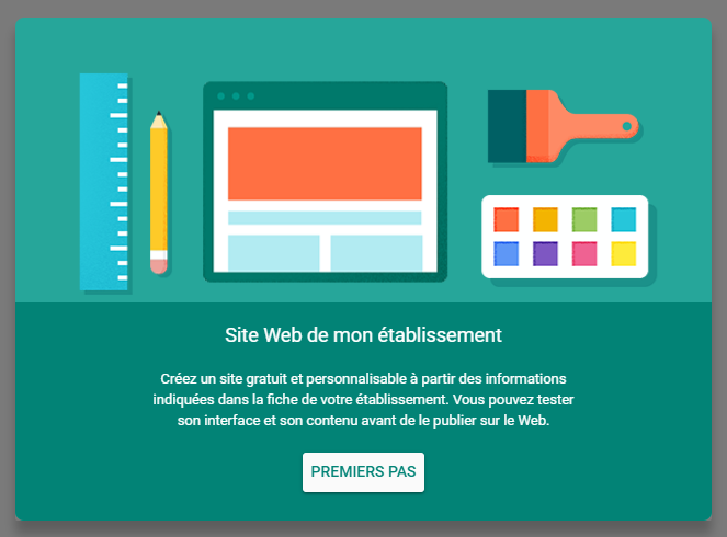 cr u00e9er un site web avec google my business